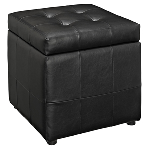 Volt Storage Tufted Ottoman - Black