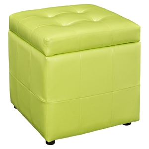 Volt Storage Tufted Ottoman - Light Green