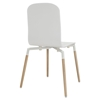 Stack Dining Wood Side Chair - White - EEI-1054-WHI