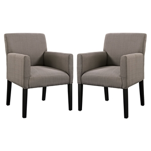 Chloe Upholstery Armchair - Gray (Set of 2)