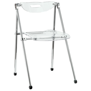 Telescoping Clear Folding Chair