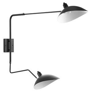 View Double Fixture Wall Lamp - Black
