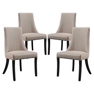 Reverie Upholstery Dining Side Chair - Beige (Set of 4)