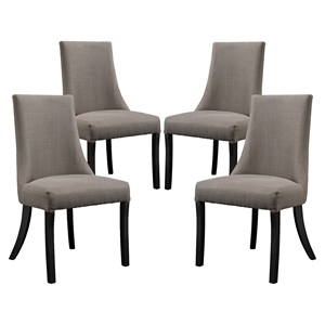 Reverie Upholstery Dining Side Chair - Gray (Set of 4)