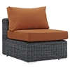Summon 10 Pieces Outdoor Patio Sectional Set - Sunbrella Canvas Tuscan - EEI-1902-GRY-TUS-SET