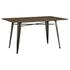"Alacrity 59"" Rectangle Wood Dining Table - Brown - EEI-2034-BRN"