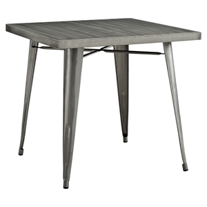 Alacrity Metal Square Dining Table - Gunmetal