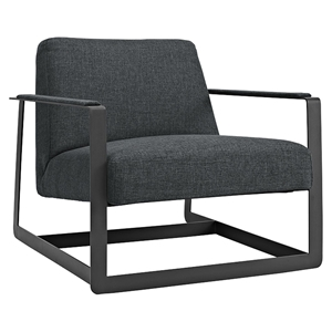 Seg Fabric Accent Chair - Gray