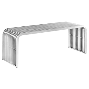 "Pipe 46.5"" Stainless Steel Bench"