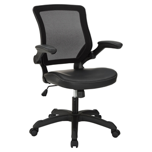 Veer Leatherette Office Chair - Black