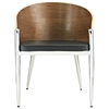 Cooper Wood Dining Chair - Silver Legs - EEI-604-SLV