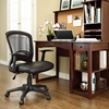 Pulse Leatherette Office Chair - Adjustable Height, Swivel, Black - EEI-756-BLK