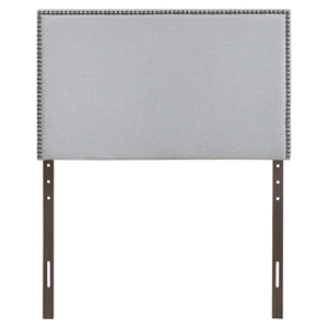 Region Twin Nailhead Upholstered Headboard - Sky Gray