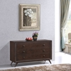Tracy 3-Drawer Wood Dresser - Cappuccino - EEI-5241-CAP