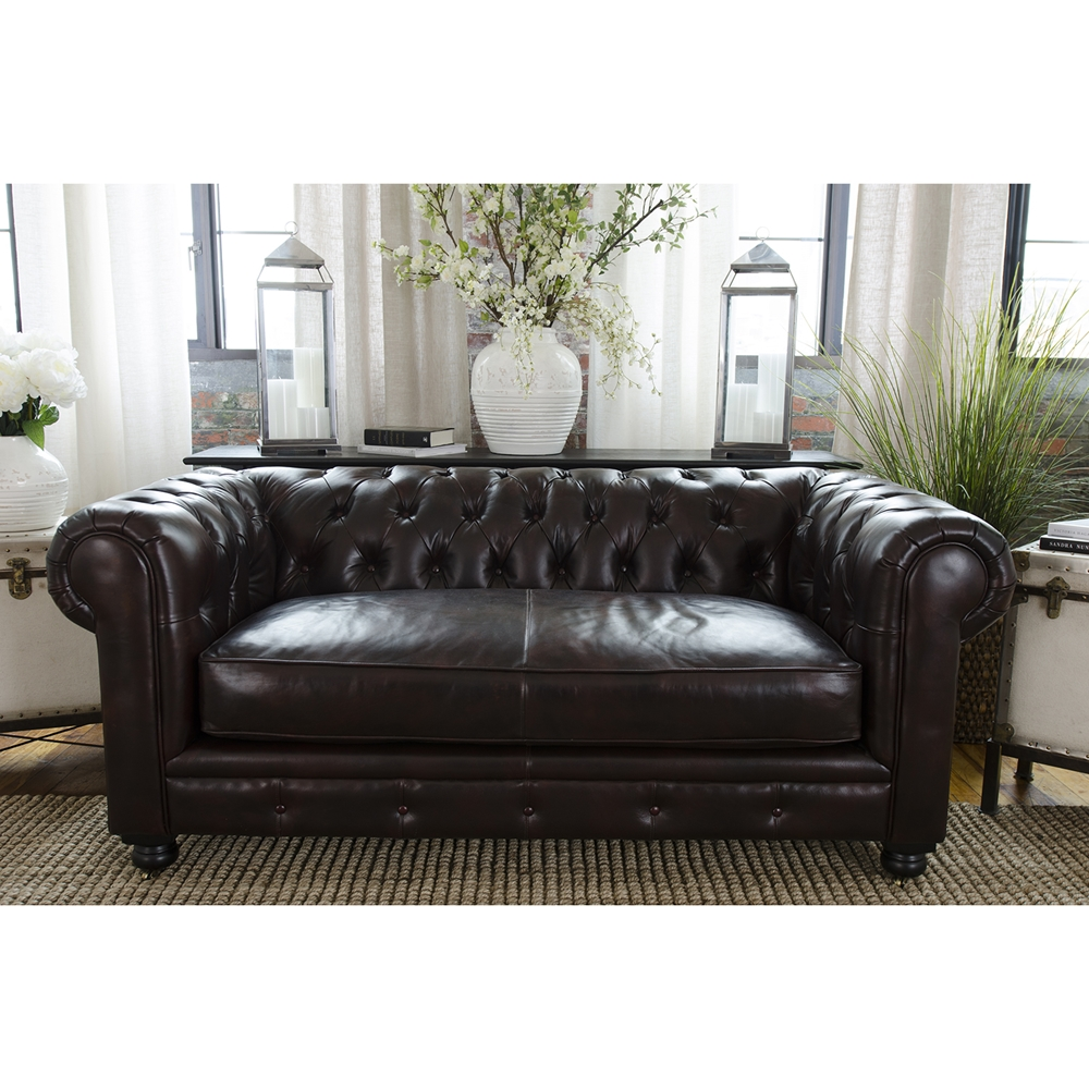 Estate 3 Piece Top Grain Leather Sofa Set Saddle Dcg