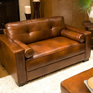 Soho Top Grain Leather Oversized Club Chair In Rustic Brown Ele Soh Oc