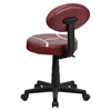 Football Task Chair - Height Adjustable, Swivel - FLSH-BT-6181-FOOT-GG