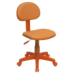 Fabric Swivel Task Chair - Orange