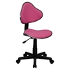 Fabric Swivel Task Chair - Height Adjustable, Pink - FLSH-BT-699-PINK-GG