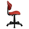 Fabric Swivel Task Chair - Height Adjustable, Red - FLSH-BT-699-RED-GG