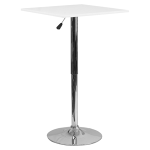 "23.75"" Square Adjustable Height Table - White"