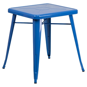 "23.75"" Square Metal Table - Blue"
