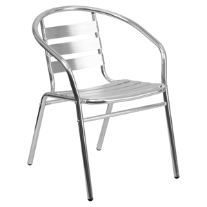 Stack Chair - Triple Slat Back, Aluminum
