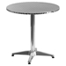 "27.5"" Round Bistro Table - Aluminum - FLSH-TLH-052-2-GG"