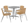 "31.5"" Round Bistro Table - Aluminum - FLSH-TLH-052-3-GG"