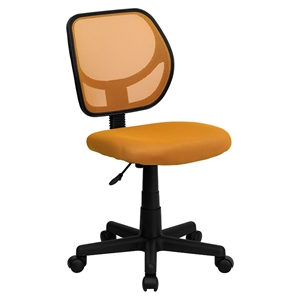 Swivel Task Chair - Low Back, Orange