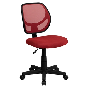 Swivel Task Chair - Low Back, Red
