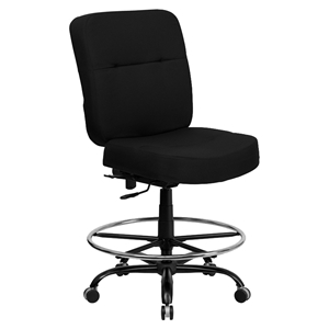 Hercules Series Big and Tall Drafting Chair - Black, Extra Wide Seat