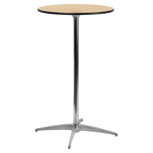 "24"" Round Wood Cocktail Table - Natural"