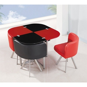 Emma Dining Table in Red/Black