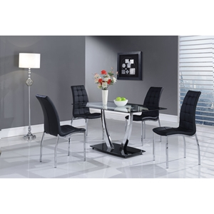 Camila 5-Piece Dining Set, Black