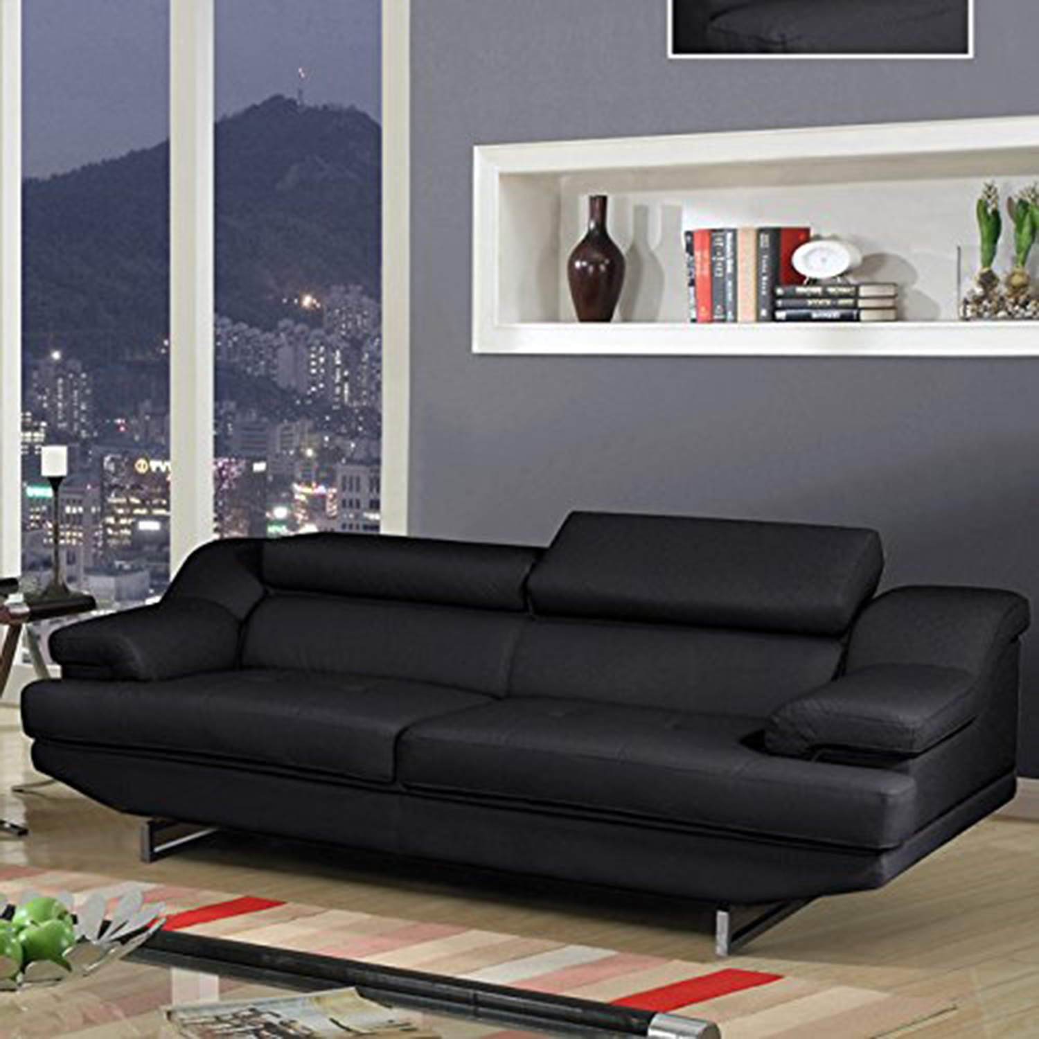 leather sofa charlotte nc sofa in black leather dcg stores 6892