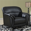 Maxwell Chair - Black Leather Look - GLO-U9103-BL-CH-M
