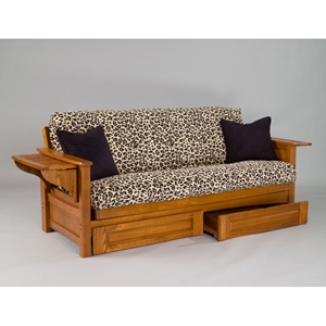 Burlington Cherry Oak Futon Set