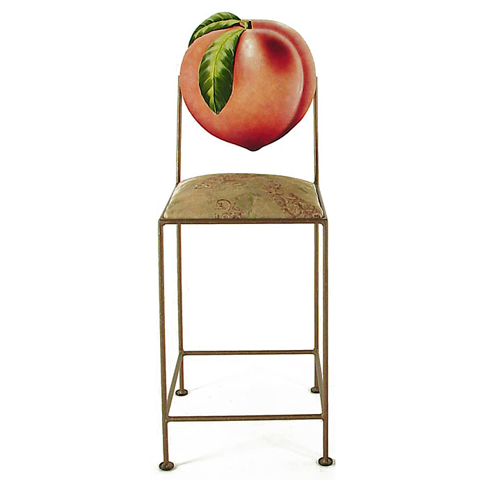 Fruit 24 Wrought Iron Counter Stool Hand Painted Gmc Al