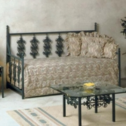 Rose Garden Wrought Iron Daybed - Ornate Scrollwork