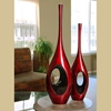 34.5 Inch Tall Red Black Hole Vase - HEB-LPSC048-L-RB