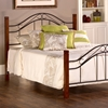 Matson Bed - Cherry Posts, Black Grills - HILL-1159-BED
