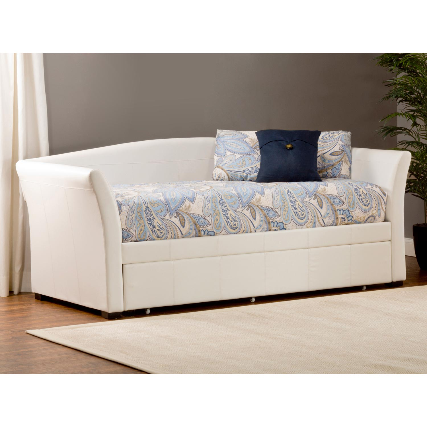 Montgomery Upholstered Daybed Amp Trundle White Dcg Stores