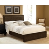 Amber Fabric Bed - Nail Head Trim, Chocolate - HILL-1554BXRA