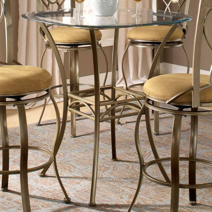 Brookside Round Bar Height Bistro Table