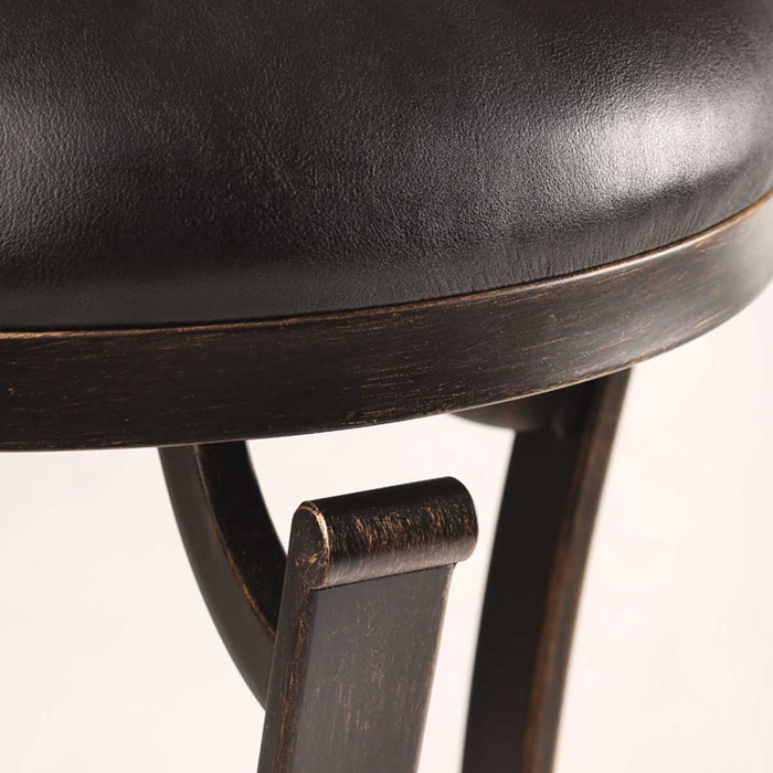 """Kennedy 26"""" Swivel Counter Stool With Cherry Wood Top"""