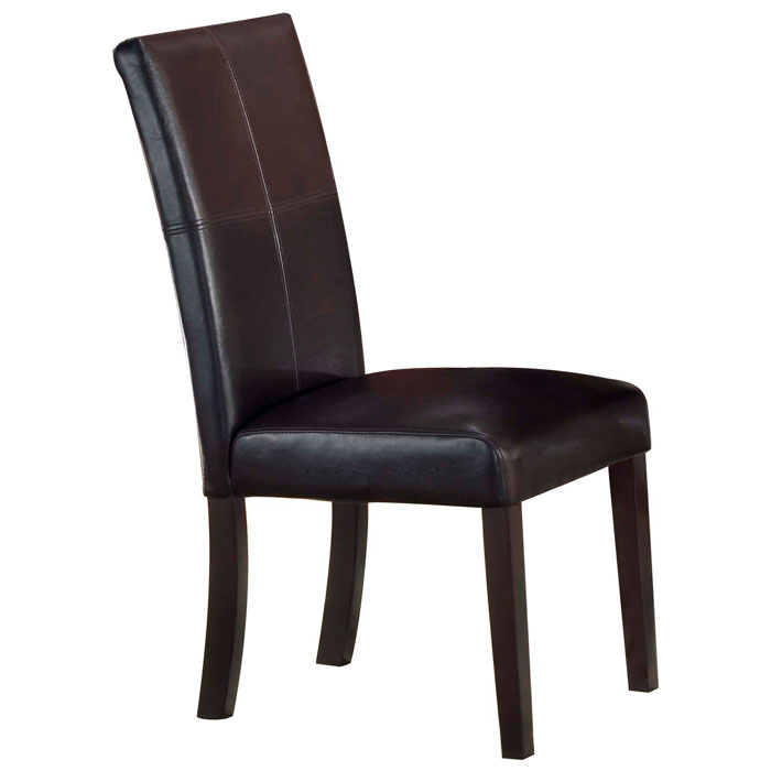 Round Dining Table With Leather Chairs: Monaco Round Dining Table With Leather Chairs