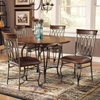 Montello Brown 5 Piece Round Dining Set