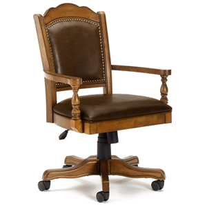 Nassau Adjustable Height Leather Game Chair