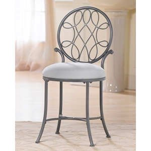 O%27 Malley Metal Vanity Stool with Round Back